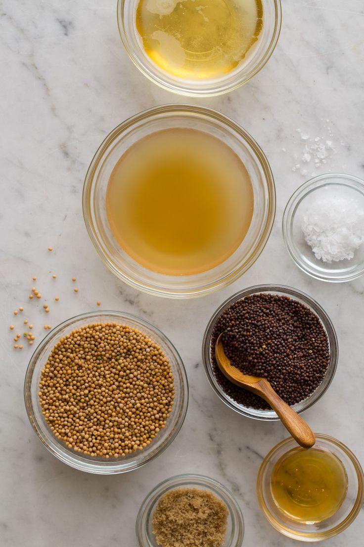 Whole Grain Beer Mustard ingredients / Spoon Fork Bacon