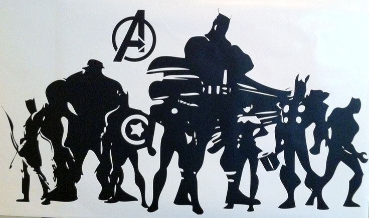 Wall Decal, The Avengers Silhouette. $45.00, via Etsy ...