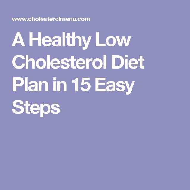 A Healthy Low Cholesterol Diet Plan in 15 Easy Steps