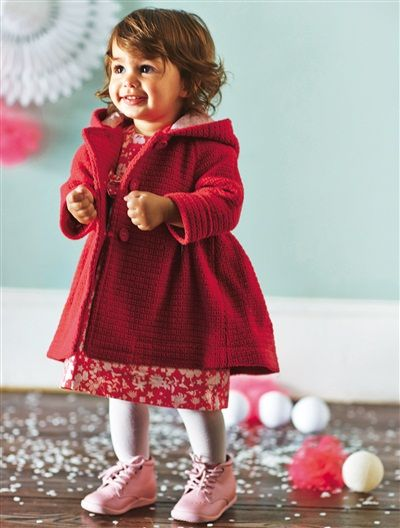 baby girl 39 s wool mix coat fuchsia grey http www. Black Bedroom Furniture Sets. Home Design Ideas