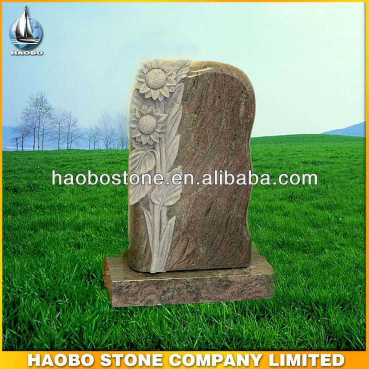 Hand carved lilies paradiso granite upright headstone