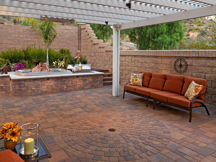 60 best images about stone patio ideas on pinterest - Backyard patio ideas stone ...