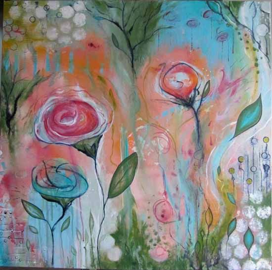 NathalieVachon_    after taking Flora Bowley's course on intuitive painting.: Amazing Paintings, Amazing Art, Art Paintings, Nathali Vachon, Canvas Art, Paintings Projects, Nathalievachon Lov, Drawings Paintings, Intuitive Paintings