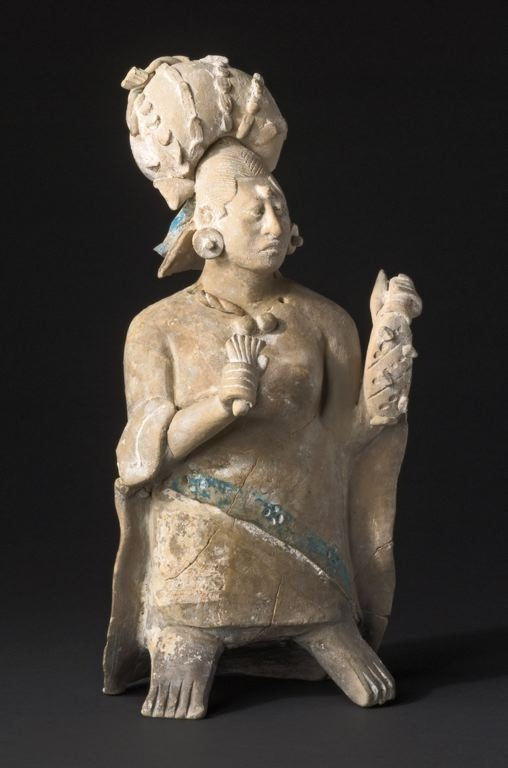 Late Classic Maya, Jaina Campeche or Yucatán, Mexico Figure of an Aristocratic Lady, A.D. 650/800