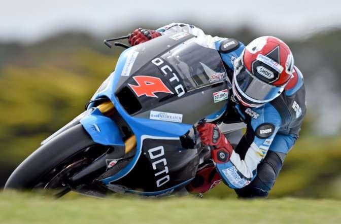 Donnerstag, 23. OktoberDer Schwezer Randy Krummenacher beibt der Moto2-Kategorie für ein weiteres Ja... - (Bild: Keystone/joe Castro)
