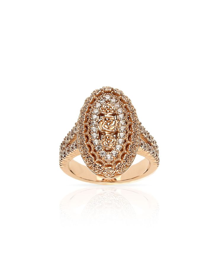 Romance personified with this rose gold intricate ring. Jenna Clifford Designs | Renaissance � Rings