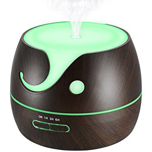 Diffuseur d'Huile Essentielle 400ml, VicTsing Humidificateur Ultrasonique Portable Purificateur d'air Electrique de Parfum Brume Fraîche…