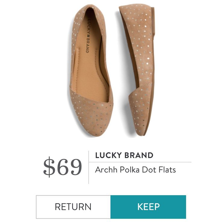 Lucky Brand - Archh Polka Dot Flats I love Stitch Fix! A personalized styling service and it's amazing!! Simply fill out a style profile with sizing and preferences. Then your very own stylist selects 5 pieces to send to you to try out at home. Keep what you love and return what you don't. Only a $20 fee which is also applied to anything you keep. Plus, if you keep all 5 pieces you get 25% off! Free shipping both ways. Schedule your first fix using the link below! #stitchfix @stitchfix…
