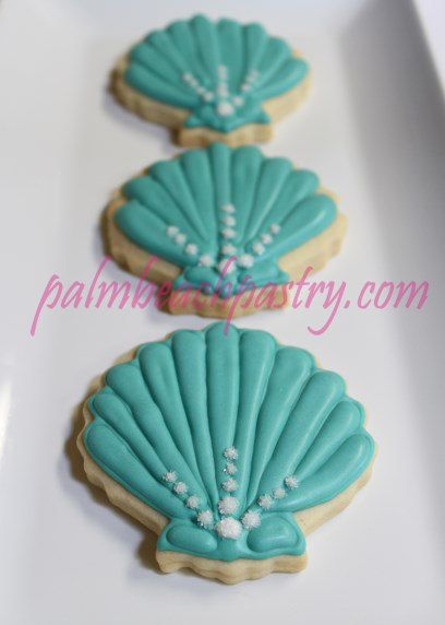 SeaShell  Sea shell  theme Decorated Sugar by PalmBeachPastry, $39.00