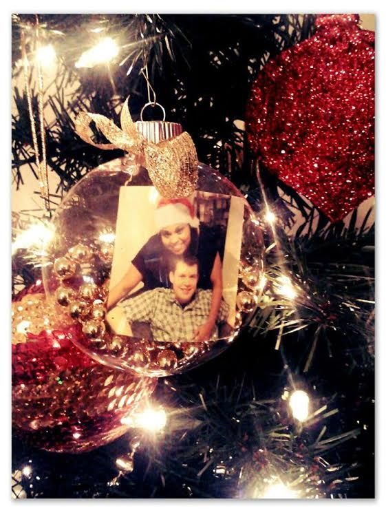 """Each year for Christmas, we make an ornament with a photo of us. Hopefully, years from now, we'll be able to look back at our relationship,..."
