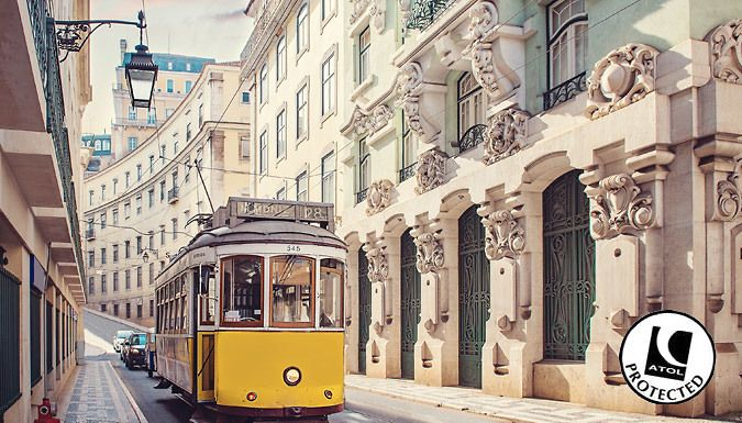 UK Holidays: Lisbon, Portugal: 2-4 Night 5* Luxury Spa Break With Breakfast & Flights - Up to 43% Off for just: £99.00 Terracotta, trams and terrific sights await with a 2-4 night luxury stay in Lisbon.      Relax into luxury with a stay at the 5* Real Palacio Hotel, a historic 17th Century building      Delight in breakfast each morning and soak up the opulent hotel dining areas      Dip...