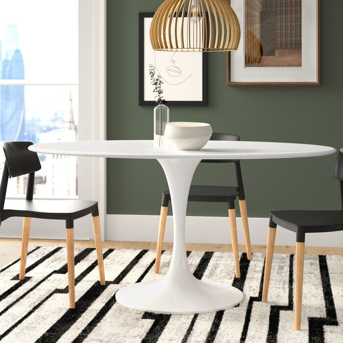 Julien Oval Dining Table In 2020 Oval Table Dining Dining Table