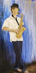 Brilliant young Namibian saxophonist Weka Steyn