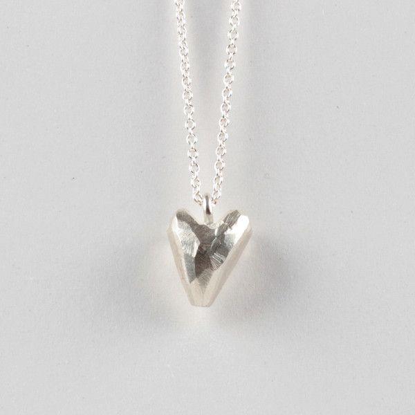 Heavy Heart Pendant - Silver   DARKBLACK $250 NZD