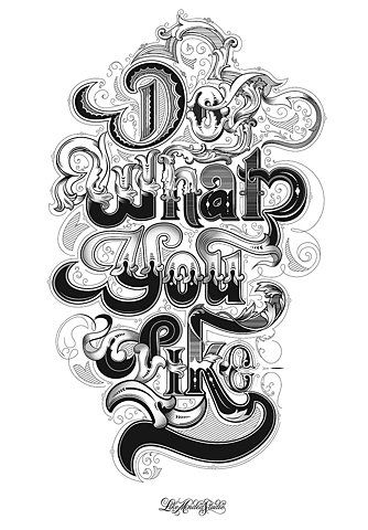 do what you like #typography #Fonts #type