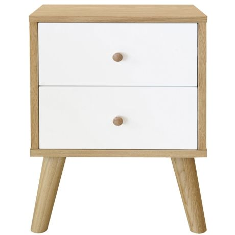 Oslo 2 Drawer Bedside Table | Freedom Furniture and Homewares