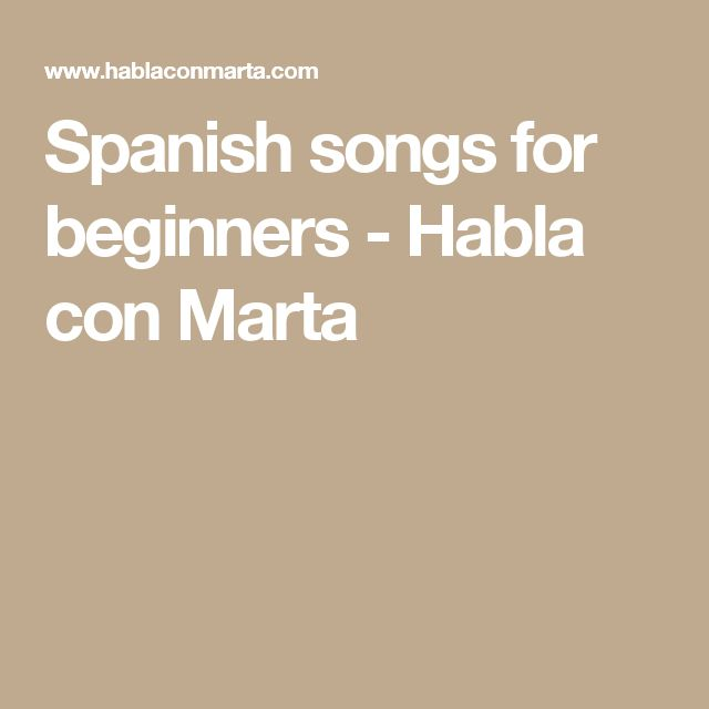 Spanish songs for beginners - Habla con Marta