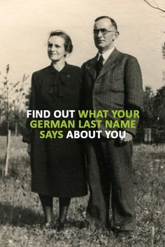 There are 4 common types of German surnames. Enter your last name to learn its meaning and origin.