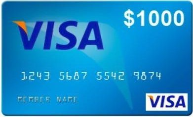 What can $1000 do for you?  WIN a $1000 visa card and find out exactly what you would do with it.  No purchase necessary.
