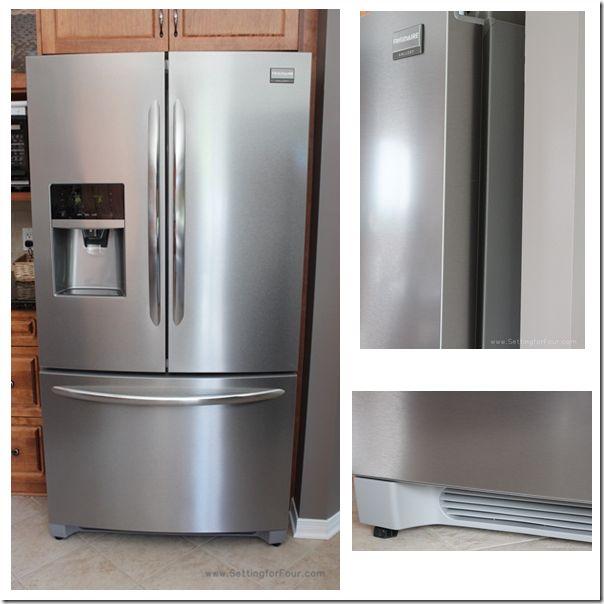 Frigidaire French Door Refrigerator Stylish and Sleek Stainless Steel Design