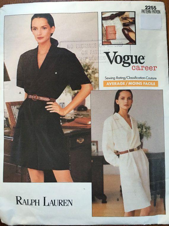 PATTERN Vogue 2069  Skirt Blouse Size 6-8-10 Anne Klein II Vogue Career 1980s shoulder pads, power dressing,  Etsy weseatree patterns 1980s
