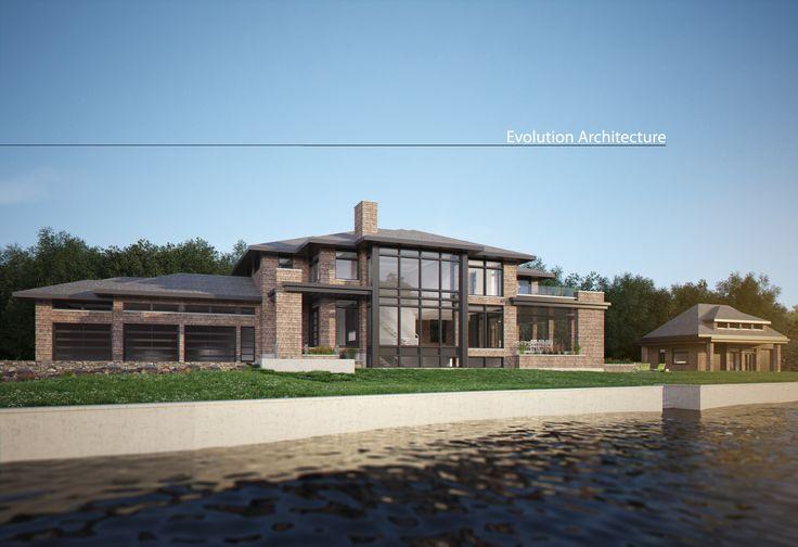 Evolution Architecture inc. modern house, exclusive creation E-923