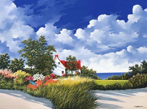 L Art De L Ete En 2020 Peinture Paysage Paysage Et Art