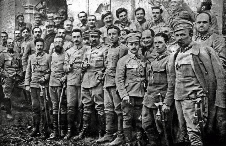 Dowództwo I Brygady Legionów, 1916 r.