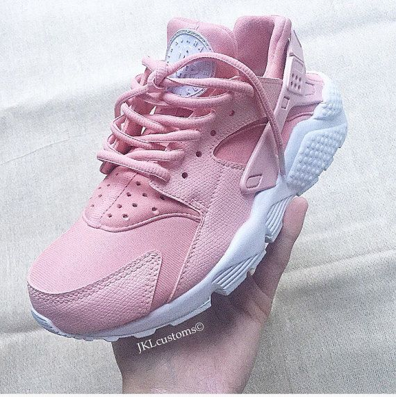 newest f3a12 24d0d ... ROSA Nike Air Huarache Rosa Nike Huarache Rose White by JKLcustoms