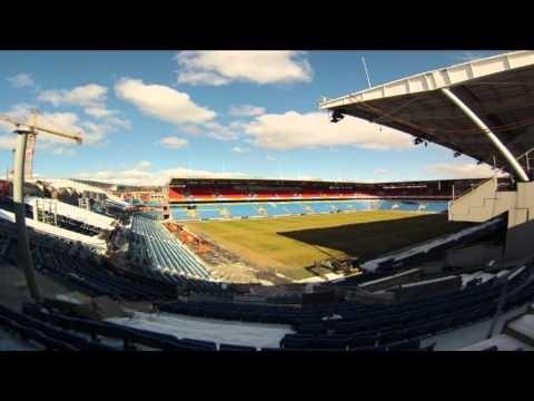 Timelapse fra Ullevaal Stadion i forbindelse med klargjøring til landskamp på fredag mellom Norge og Albania.