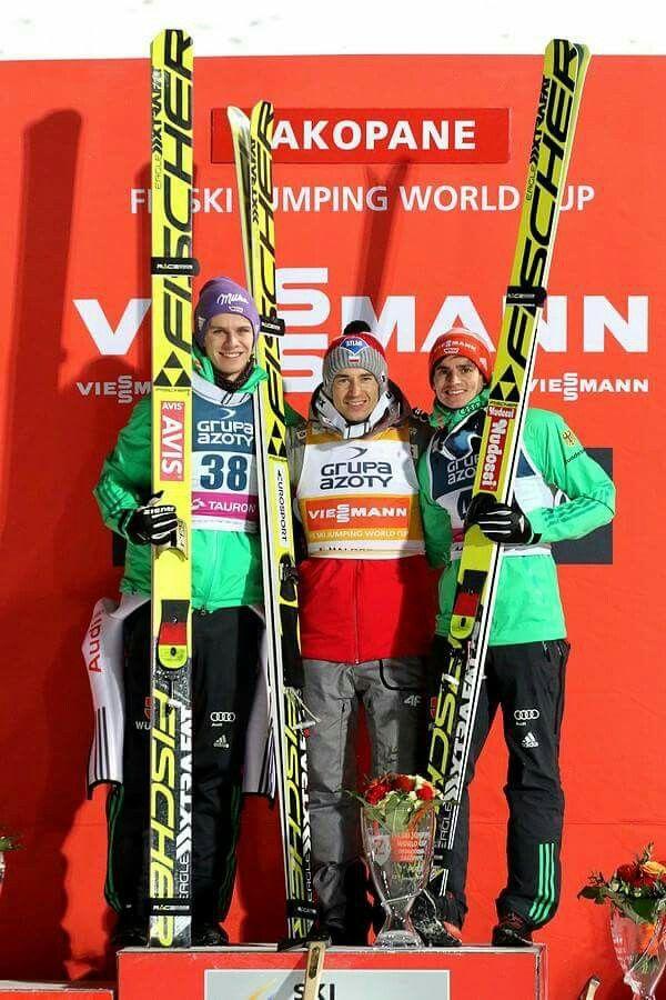 Andreas Wellinger, Kamil Stoch, Richard Freitag  skijumping  skijumper