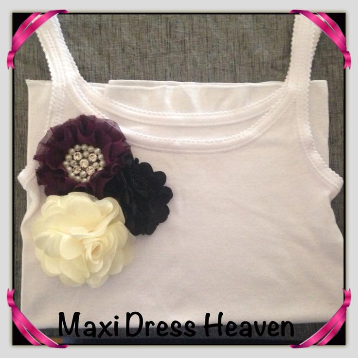 Girl's Cotton Singlet with Floral Accent with sizing from 1-2 to 9-10. Also available in long sleeve design. Available to pre-order from www.maxidressheav... #girl #clothing #handmade #singlet