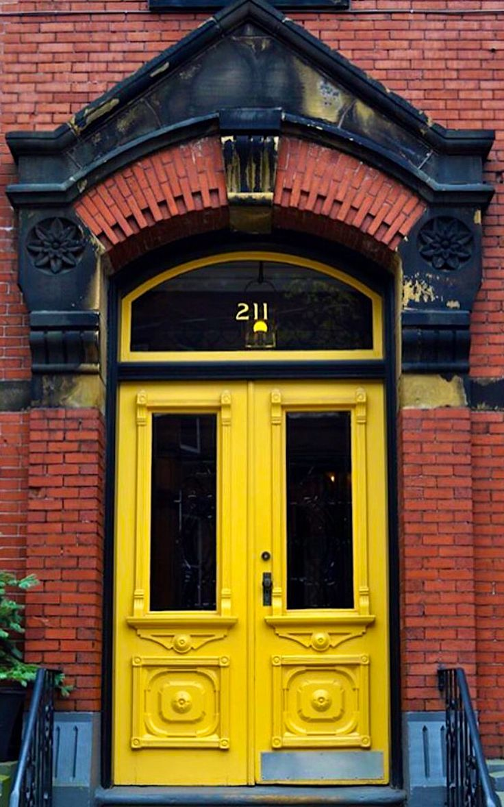 Nothing mellow about this yellow door in Saint John, New Brunswick, Canada.