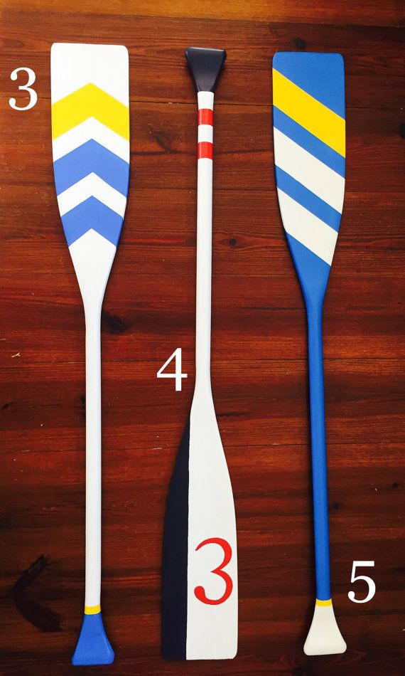 Wooden Oar Custom Painted Decorative Paddle 48 by Revival5Creative