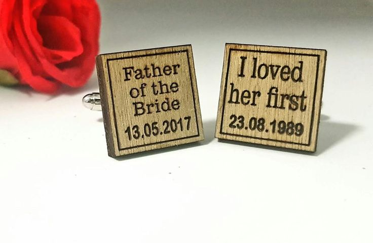Timber Father of the Bride Wedding Cufflinks