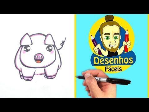 como desenhar um porquinho rosa kawaii youtube desenhos faceis