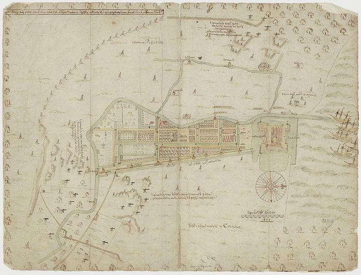 Map of Batavia and environs 1629