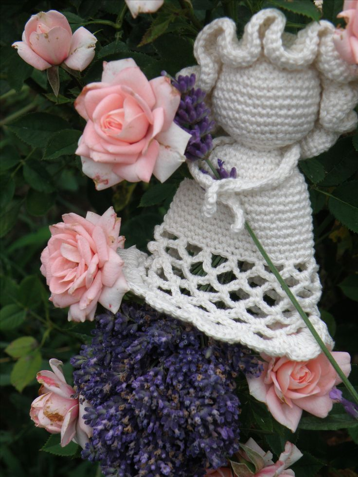 mz crocheted lavender doll
