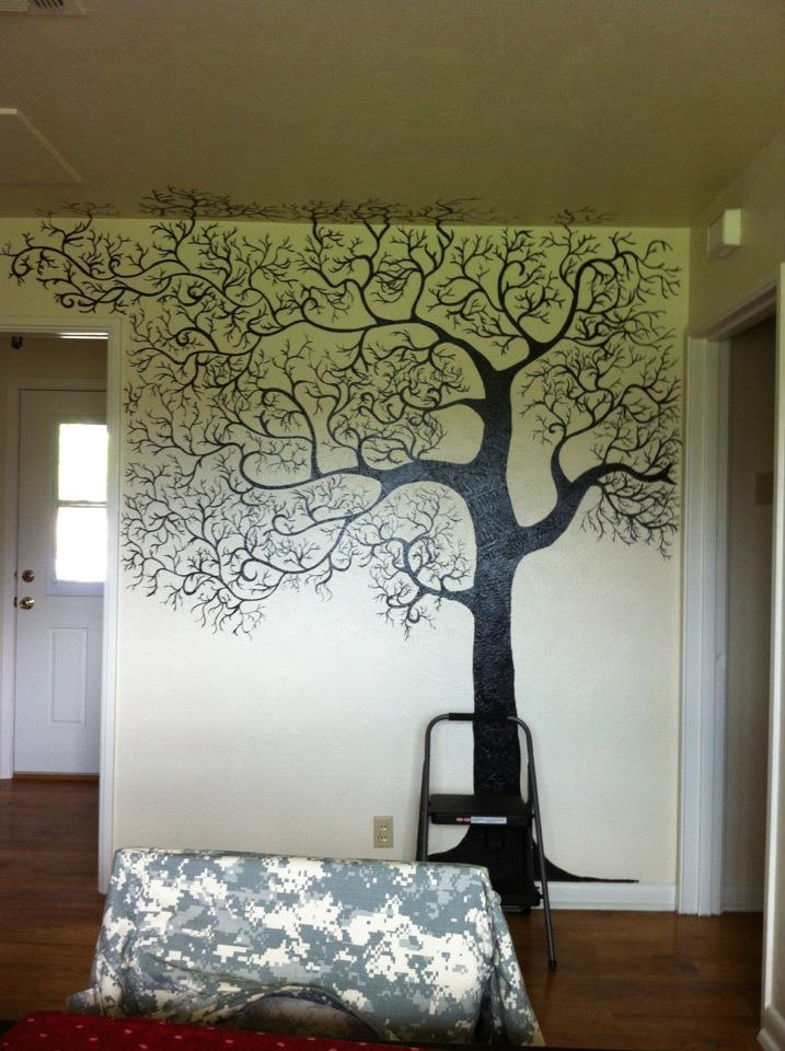 8 best wall art images on pinterest family tree chart for Apple tree mural