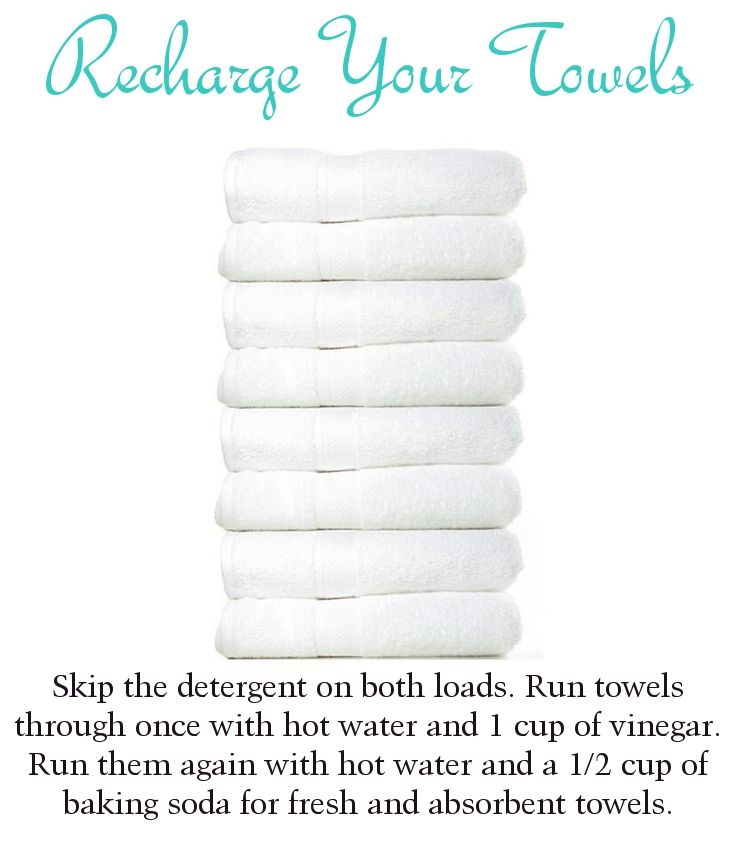 Recharge your towels using a couple of pantry staples.  Trying this - to get the smell out of towels.