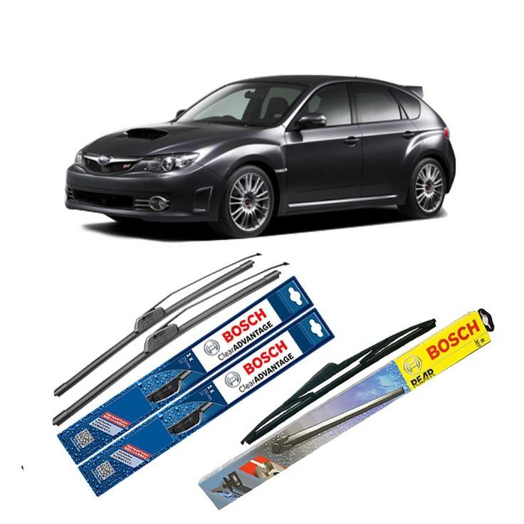 """Bosch Wiper Depan Frameless Clear Advantage & Belakang u/ Mobil Subaru Impreza G12 24"""" & 16"""" + H354 - 3Buah/Set  Frameless Umur Pakai & Daya Tahan Lebih Lama Penyapuan kaca yang senyap Performa Sapuan Optimal Instalasi Mudah & Cepat Original Produk Bosch  http://klikonderdil.com/frame-less/1228-bosch-wiper-depan-frameless-clear-advantage-belakang-u-mobil-subaru-impreza-g12-24-16-h354-3buahset.html  #bosch #wiper #jualwiper #frameless #subaruimpreza"""