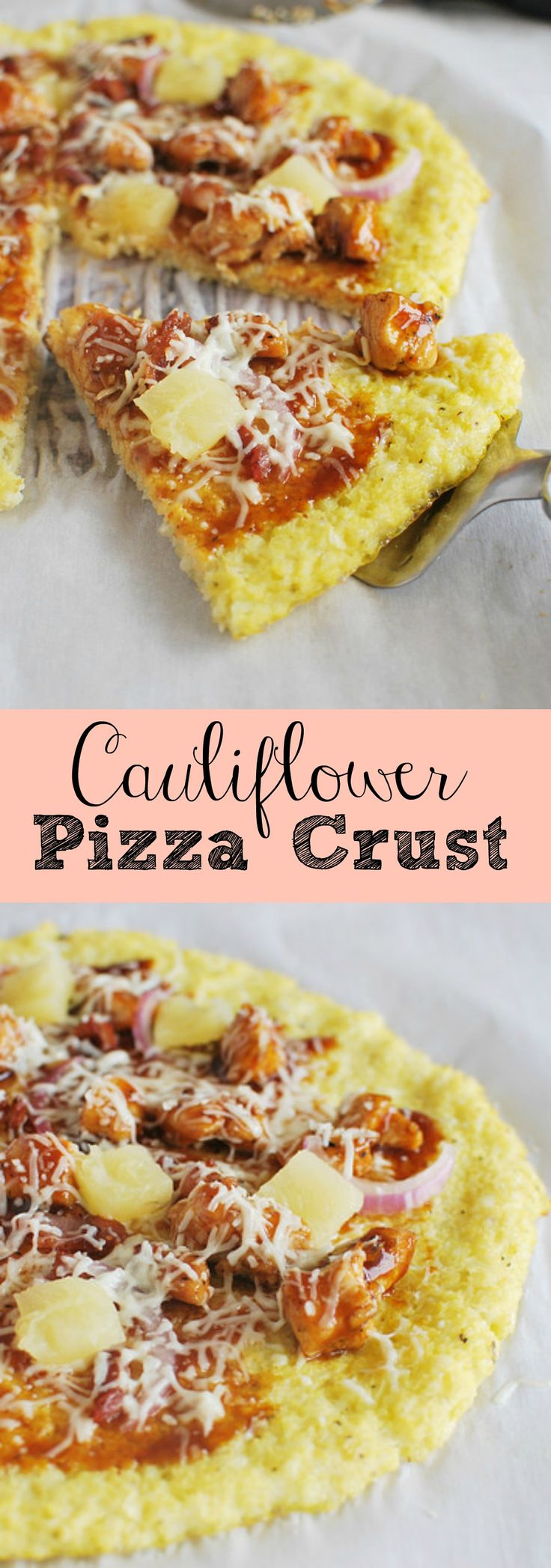 Cauliflower Pizza Crust - a healthy and low carb way to enjoy pizza! This is so delicious!