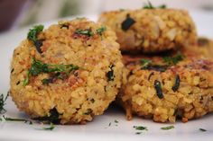 Kibbeh de Bulgur y Calabacín http://sutobu.es/recetas-cocina/recetas-veganas/kibbeh-bulgur-calabacin/