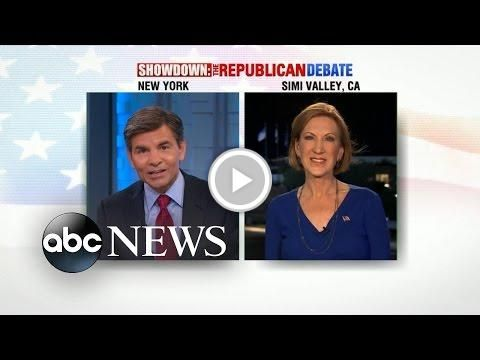 "#Republican Debate 2015 | #Carly Fiorina ""Satisfied"" with GOP Debate"