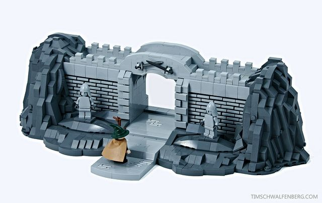Gateway to LEGO brick wall building