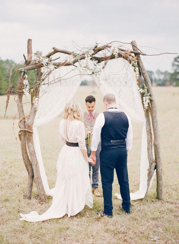 rustic wedding archway