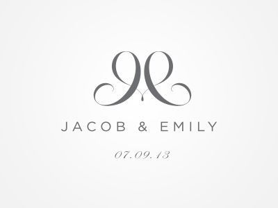 Wedding Logo - only works if we use Jeff's name first