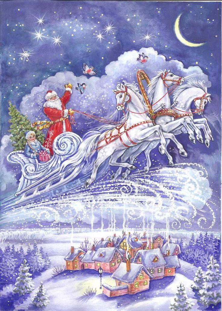 Просмотреть иллюстрацию новый год из сообщества русскоязычных художников автора И и А  Чукавины в стилях: Другое, нарисованная техниками: Смешанная техника.