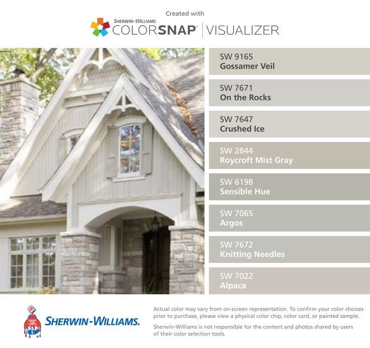 1000 images about exterior color palette on pinterest - Sherwin williams artichoke exterior ...