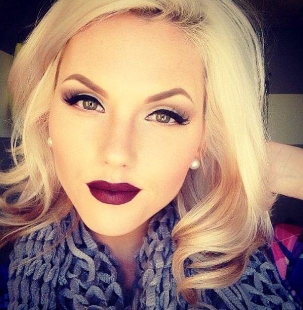 Love the dark lip shade and classic brow shape